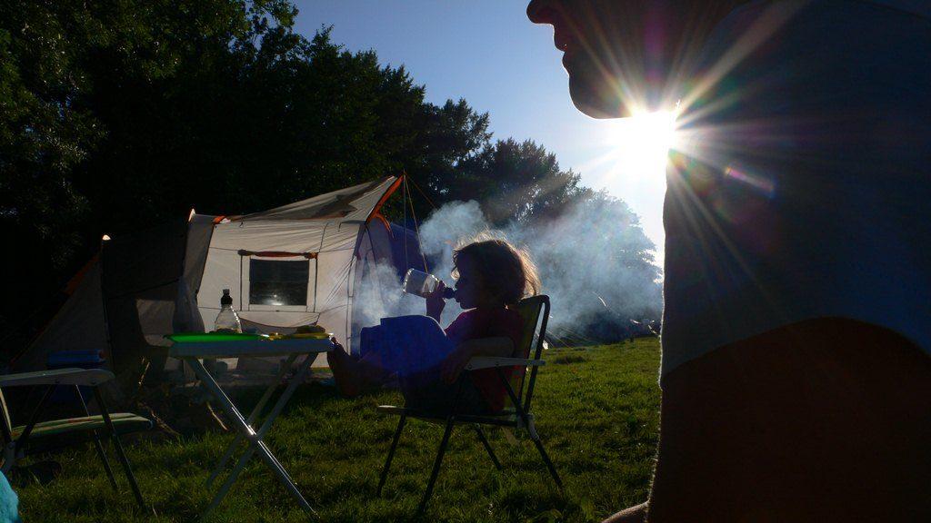Un bon camping en été